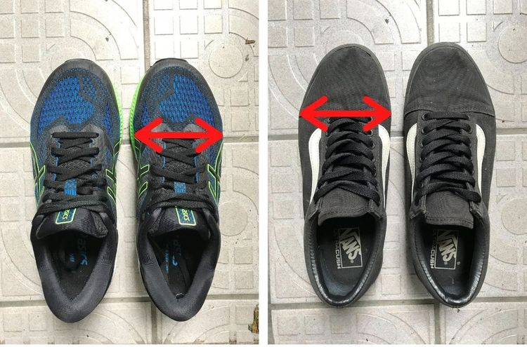 Position of shoe last