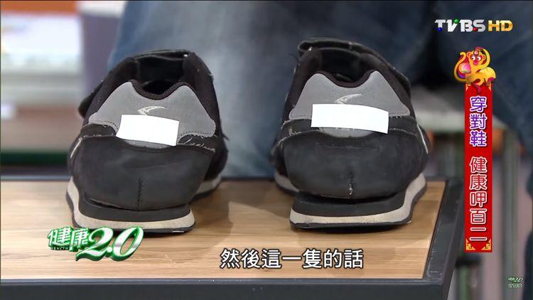 Flatfeet's signs - tilted heelcap